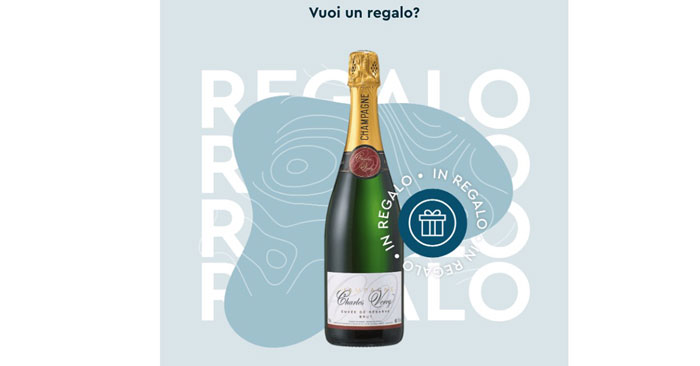 Champagne in regalo