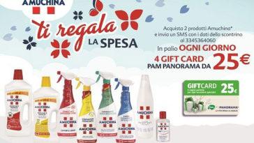Con Amuchina vinci Gift Card Pam Panorama