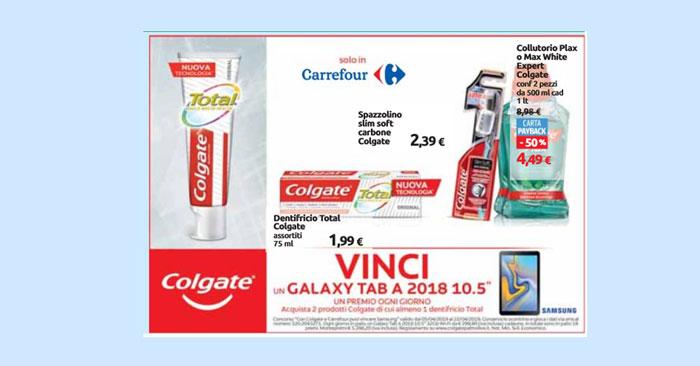 Con Colgate e Carrefour puoi vincere tablet Samsung