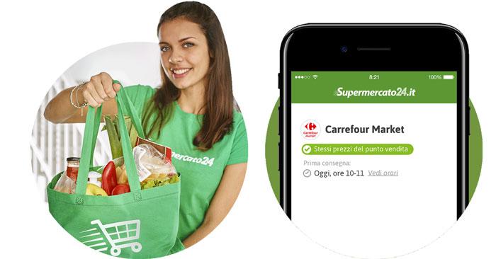 Consegna gratuita spesa Carrefour e Supermercato24