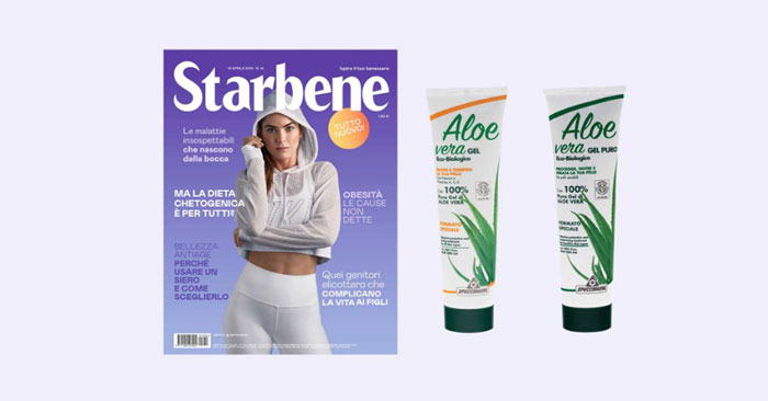 Rivista Starbene con Specchiasol gel Aloe