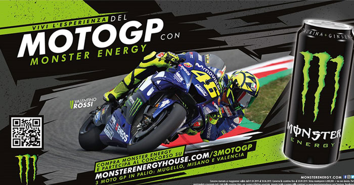 Vai al moto GP con Monster