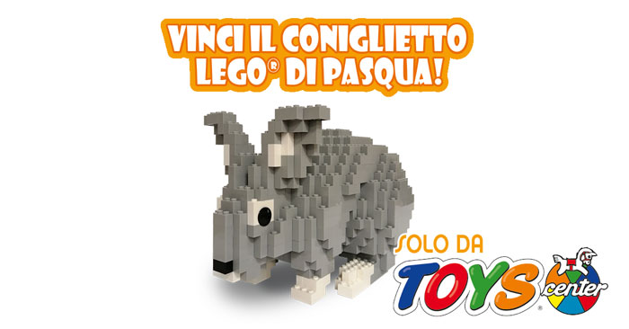 Vinci il coniglietto Lego di Pasqua da Toys Center