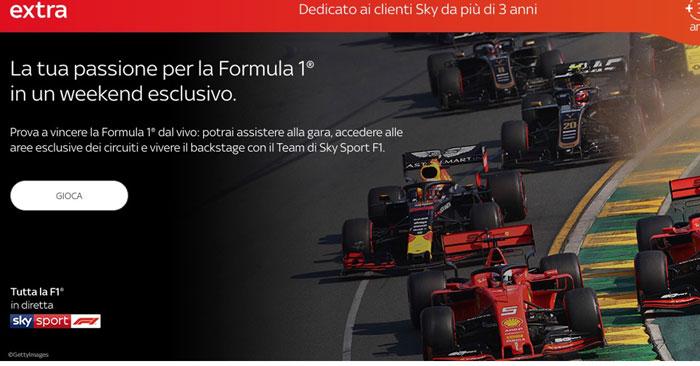 Vivi la F1 2019: vinci con Sky extra