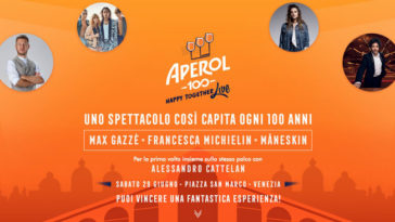 "Concorso ""Aperol 100 Happy Together Live"""