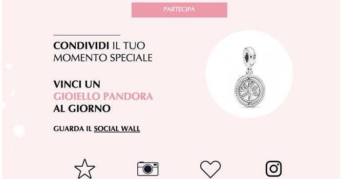 """Concorso Pandora: """"ogni momento è un regalo"""""""
