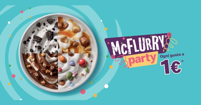 McFlurry 1 euro Mc Donald