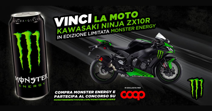 Monster Energy: vinci Kawasaki Ninja ZX10R