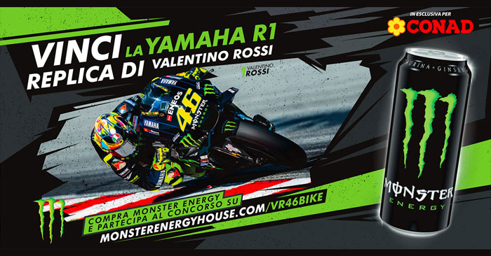 Monster Energy: vinci moto Yamaha R1