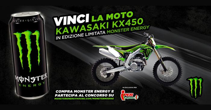 Monster Energy: vinci moto da cross Monster