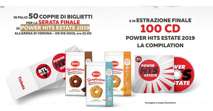 Semplicissimi Doria: vinci cd e biglietti Power Hits Estate 2019