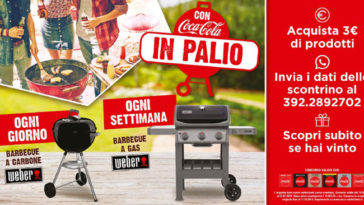 Vinci barbeque Weber con Coca-Cola