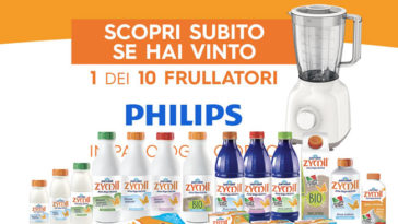 """""""Vinci con Zymil"""": in palio 10 frullatori Philips al giorno"""