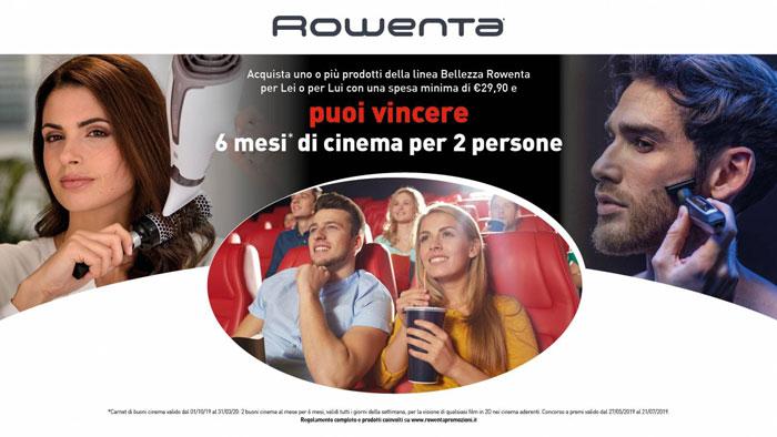 Concorso Rowenta: vinci 6 mesi di cinema