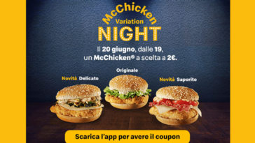 McChicken Variation Night due euro