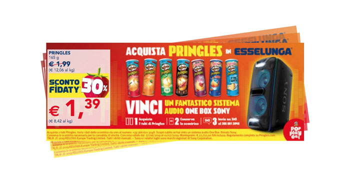 Pringles: vinci sistema audio One Box Sony