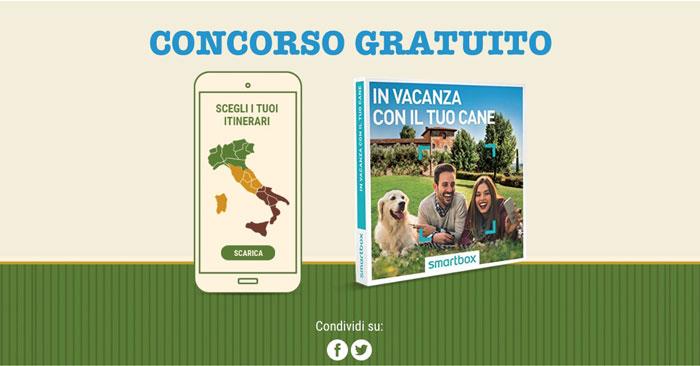 """Vinci Smartbox """"In vacanza con il tuo cane"""""""