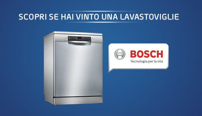 Vinci lavastoviglie Bosch con Finish