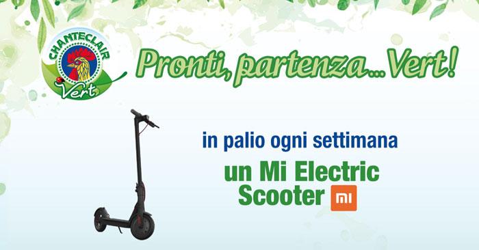 Vinci monopattini elettrici con Chanteclair Vert