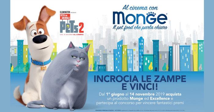 Vinci tanti premi con Monge e Pets 2