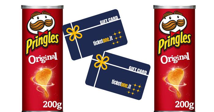Tubi musicali Pringles: vinci buoni TicketOne da 200€