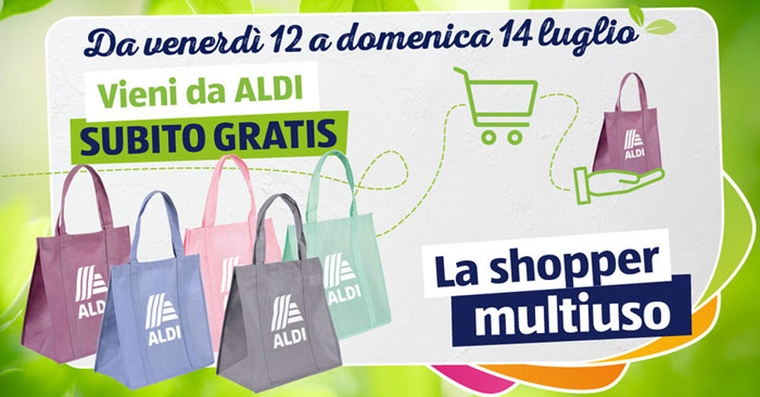 Aldi: gratis shopper multiuso