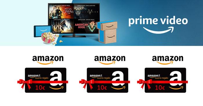 Amazon Prime Video ti regala 10€