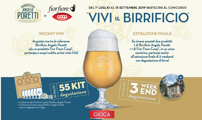 """Birra Poretti: """"Vivi il birrificio"""""""