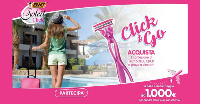 """""""Click and go"""": vinci un buono viaggio da 1.000 euro!"""