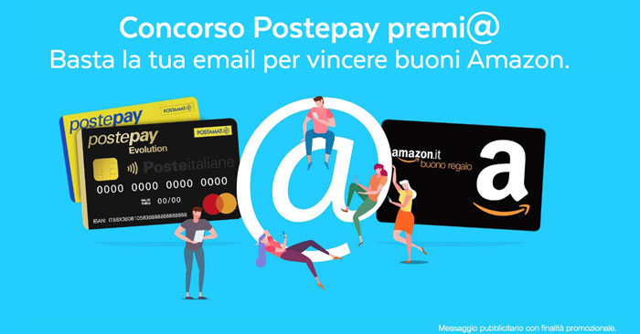 Concorso Postepay premia: vinci buoni Amazon!