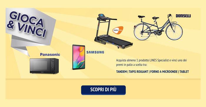 Lines Specialist: vinci subito microonde, tablet e altri premi!