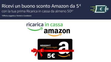 Ricarica in cassa e ricevi 5€ omaggio (subito)