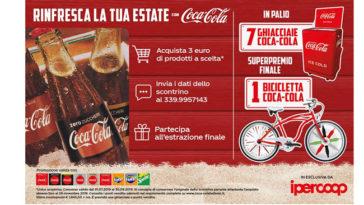 Vinci ghiacciaia Coca-Cola o bicicletta