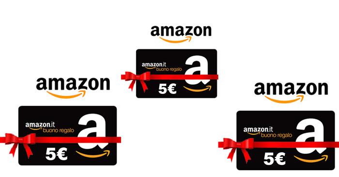 Amazon ti regala 5€ con i buoni regalo