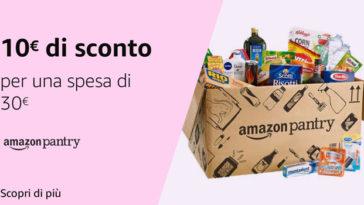 Risparmia fino a 19,99€ su Amazon Pantry