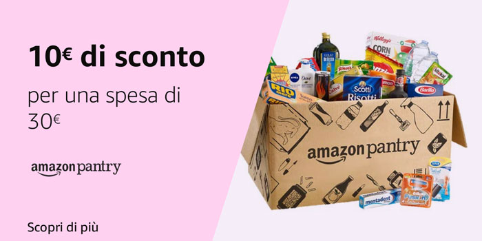 Risparmia fino a 19,99€ su Amazon Pantry