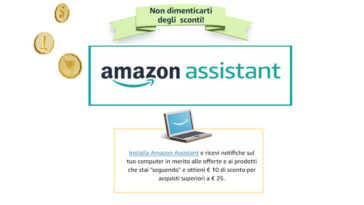 Amazon Assistant 10€ omaggio