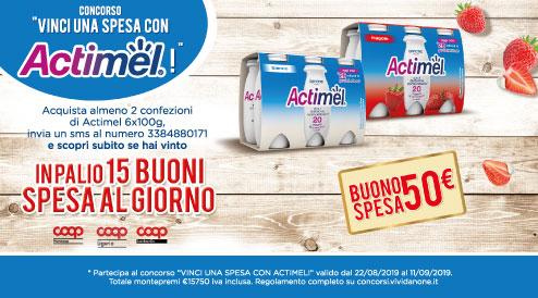 Actimel: vinci buoni spesa da 50€