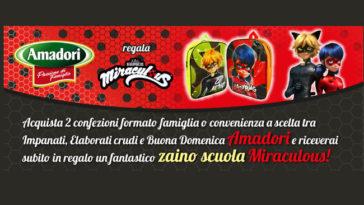Amadori regala Zaino Scuola Miraculous