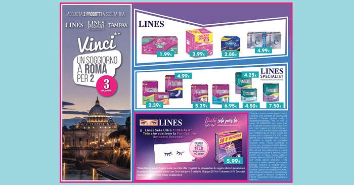 Concorso Lines: vinci soggiorno a Roma per 2 persone!