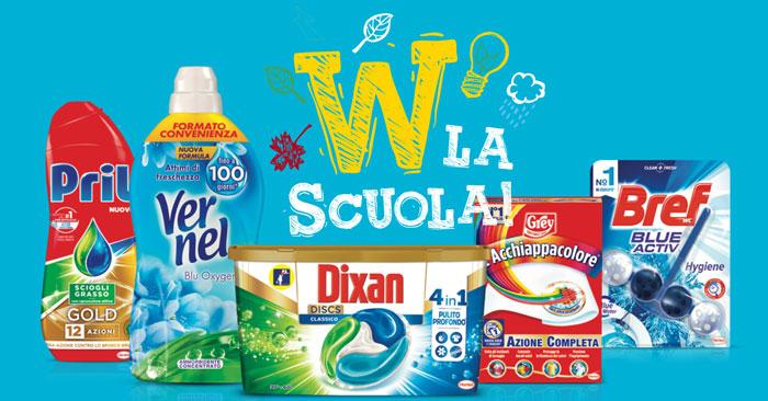 Henkel: vinci buoni spesa per la scuola e gite scolastiche