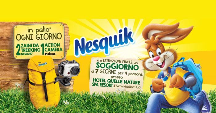 Nesquik: vinci zaini, action camera e soggiorni!