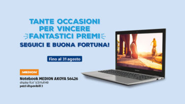 Newsletter Aldi: vinci notebook Medion Akoya S6426