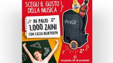 Vinci 1.000 zaini Coca-Cola