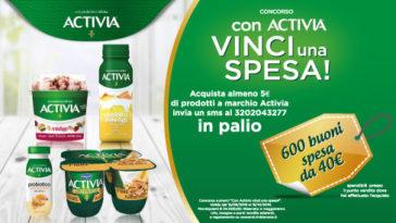 Vinci 600 buoni spesa con Activia