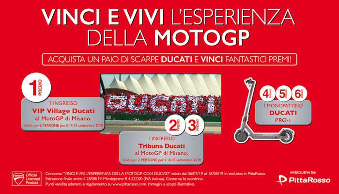 Vinci e vivi l'esperienza della MotoGP con Ducati e PittaRosso