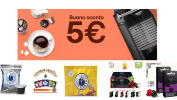eBay: codice sconto 5€ su Caffè