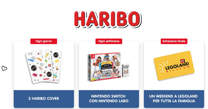 Haribo: vinci Nintendo Switch, Cover, Legoland!