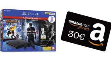 Amazon: codice da 30€ con Playstation 4