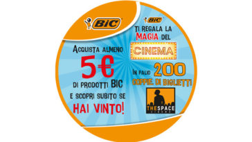 """Bic ti regala la magia del cinema"" The Space!"